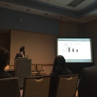 Ujjal Sekhon presenting on SyntheticPlatelet research at the BMES Annual Conference 2015, Tampa