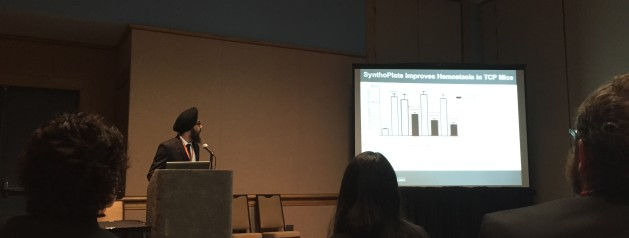 Ujjal gives a podium presentation at BMES 2015